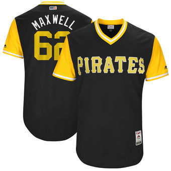 Men's Pittsburgh Pirates Max Moroff Maxwell Majestic Black 2017 Players Weekend Authentic Jersey