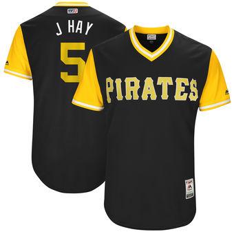 Men's Pittsburgh Pirates Josh Harrison J Hay Majestic Black 2017 Players Weekend Authentic Jersey