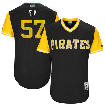 Men's Pittsburgh Pirates Trevor Williams EV Majestic Black 2017 Players Weekend Authentic Jersey