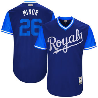 Men's Kansas City Royals Mike Minor Minor Majestic Royal 2017 Players Weekend Authentic Jersey