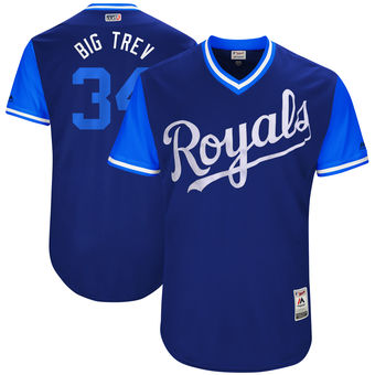 Men's Kansas City Royals Trevor Cahill Big Trev Majestic Royal 2017 Players Weekend Authentic Jersey