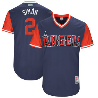 Men's Los Angeles Angels Andrelton Simmons Simón Majestic Navy 2017 Players Weekend Authentic Jersey