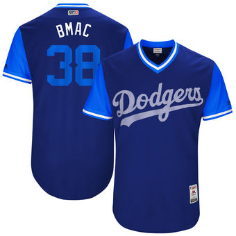 Men's Los Angeles Dodgers Brandon McCarthy BMac Majestic Royal 2017 Players Weekend Authentic Jersey