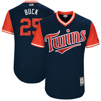 Men's Minnesota Twins Byron Buxton Buck Majestic Navy 2017 Players Weekend Authentic Jersey