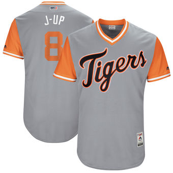 Men's Detroit Tigers Justin Upton J-Up Majestic Gray 2017 Players Weekend Authentic Jersey