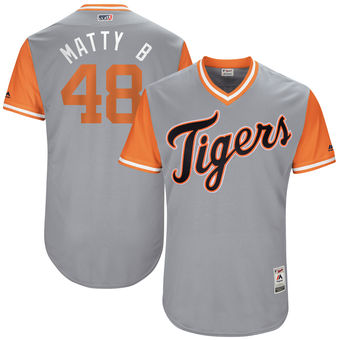 Men's Detroit Tigers Matthew Boyd Matty B Majestic Gray 2017 Players Weekend Authentic Jersey