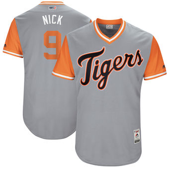 Men's Detroit Tigers Nicholas Castellanos Nick Majestic Gray 2017 Players Weekend Authentic Jersey
