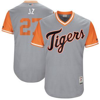 Men's Detroit Tigers Jordan Zimmermann J Z Majestic Gray 2017 Players Weekend Authentic Jersey