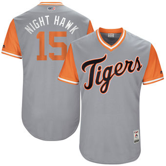 Men's Detroit Tigers Mikie Mahtook Night Hawk Majestic Gray 2017 Players Weekend Authentic Jersey