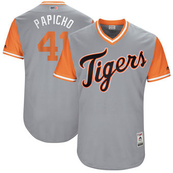 Men's Detroit Tigers Victor Martinez Papicho Majestic Gray 2017 Players Weekend Authentic Jersey