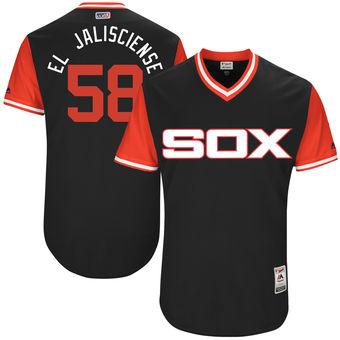 Men's Chicago White Sox Miguel Gonzalez El Jalisciense Majestic Black 2017 Players Weekend Authentic Jersey