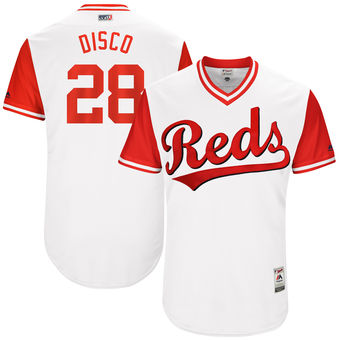 Men's Cincinnati Reds Anthony DeSclafani Disco Majestic White 2017 Players Weekend Authentic Jersey