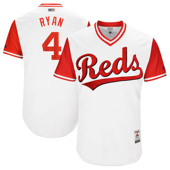 Men's Cincinnati Reds Scooter Gennett Ryan Majestic White 2017 Players Weekend Authentic Jersey