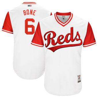 Men's Cincinnati Reds Billy Hamilton Bone Majestic White 2017 Players Weekend Authentic Jersey