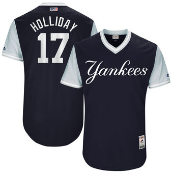 Men's New York Yankees Matt Holliday Holliday Majestic Navy 2017 Players Weekend Authentic Jersey