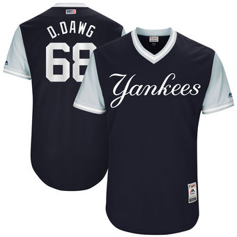 Men's New York Yankees Dellin Betances D. Dawg Majestic Navy 2017 Players Weekend Authentic Jersey