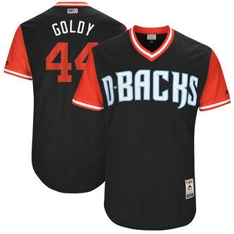 Men's Arizona Diamondbacks Paul Goldschmidt Goldy Majestic Black 2017 Players Weekend Authentic Jersey