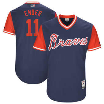 Men's Atlanta Braves Ender Inciarte Ender Majestic Navy 2017 Players Weekend Authentic Jersey