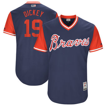 Men's Atlanta Braves R.A. Dickey Dickey Majestic Navy 2017 Players Weekend Authentic Jersey