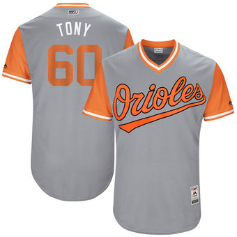 Men's Baltimore Orioles Mychal Givens Tony Majestic Gray 2017 Players Weekend Authentic Jersey