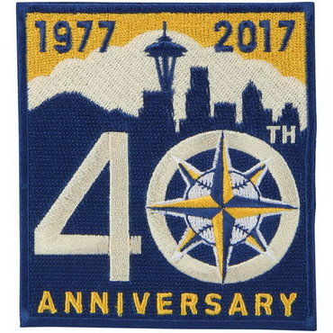 Seattle Mariners Blue Gold 40th Anniversary Team Logo Patch