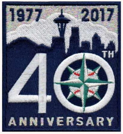 Seattle Mariners 2017 Blue Sliver 40th Anniversary Team Logo Patch