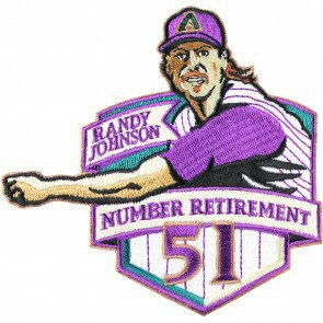 2015 Arizona Diamondbacks 51 Randy Johnson Retirement Patch