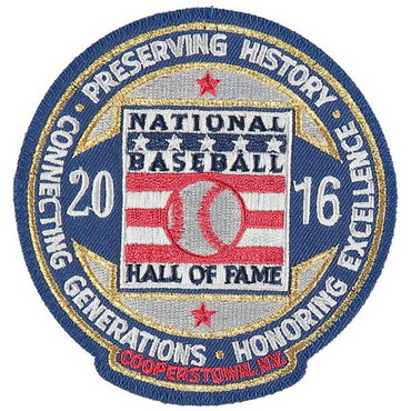 2016 MLB Hall Of Fame Patch