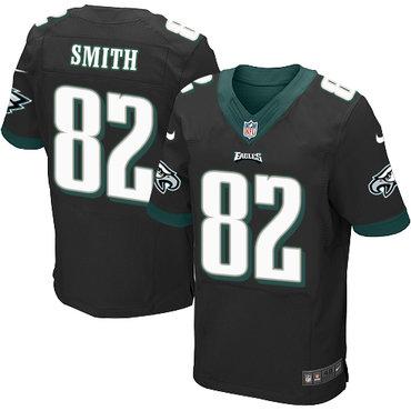 Nike Philadelphia Eagles #82 Torrey Smith Black Alternate Men's Stitched NFL New Elite Jersey