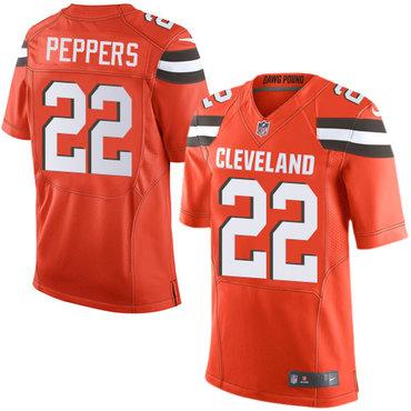 Nike Cleveland Browns #22 Jabrill Peppers Orange Alternate Men's Stitched NFL New Elite Jersey