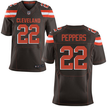 Nike Cleveland Browns #22 Jabrill Peppers Brown Team Color Men's Stitched NFL New Elite Jersey