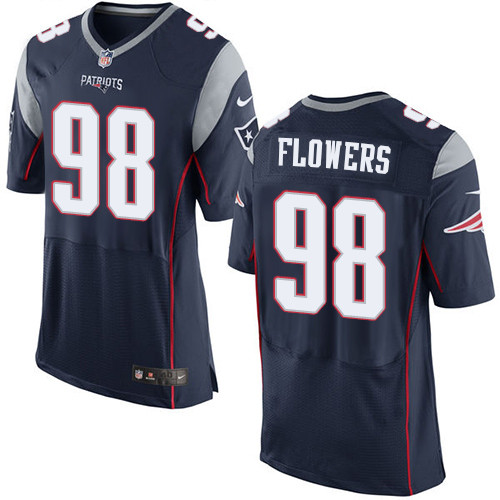 Nike New England Patriots #98 Trey Flowers Navy Blue Team Color Men's Stitched NFL Elite Jersey