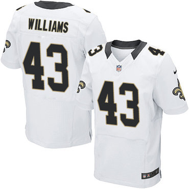 Nike New Orleans Saints #43 Marcus Williams White Men's Stitched NFL Elite Jersey