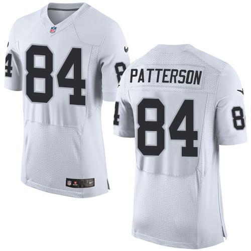 Nike Oakland Raiders #84 Cordarrelle Patterson White Men's Stitched NFL New Elite Jersey