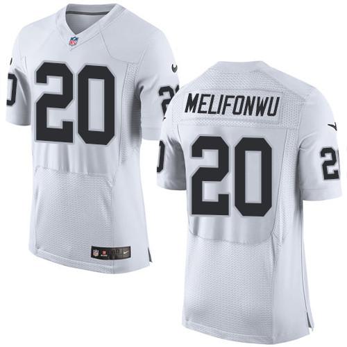 Nike Oakland Raiders #20 Obi Melifonwu White Men's Stitched NFL New Elite Jersey