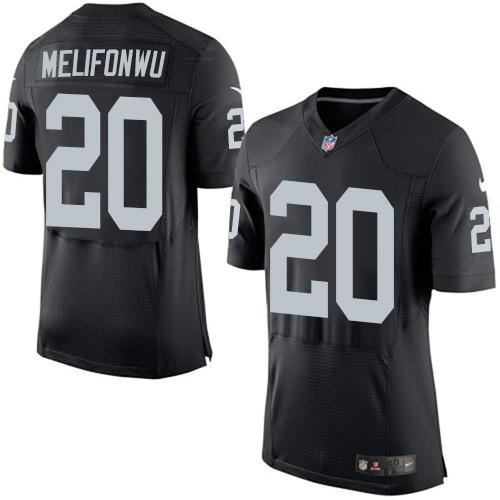 Nike Oakland Raiders #20 Obi Melifonwu Black Team Color Men's Stitched NFL New Elite Jersey