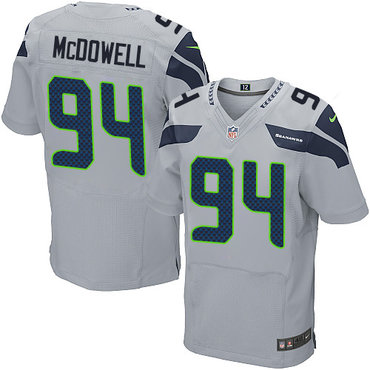 Nike Seattle Seahawks #94 Malik McDowell Grey Alternate Men's Stitched NFL Elite Jersey