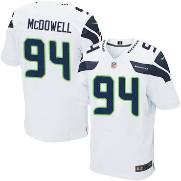 Nike Seattle Seahawks #94 Malik McDowell White Men's Stitched NFL Elite Jersey