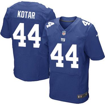 Nike New York Giants #44 Doug Kotar Royal Blue Team Color Men's Stitched NFL Elite Jersey