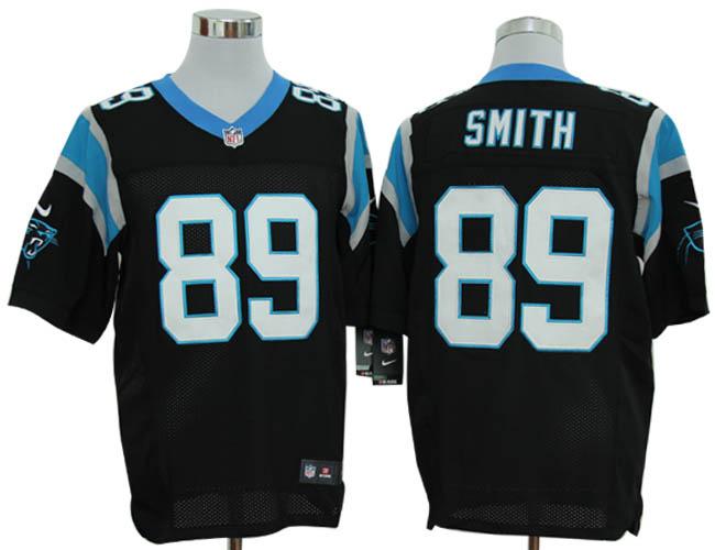 Size 60 4XL-Steve Smith Carolina Panthers #89 Black Stitched Nike Elite NFL Jerseys