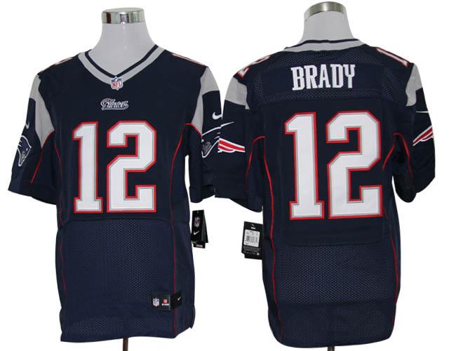 Size 60 4XL-Tom Brady New England Patriots #12 Blue Stitched Nike Elite NFL Jerseys