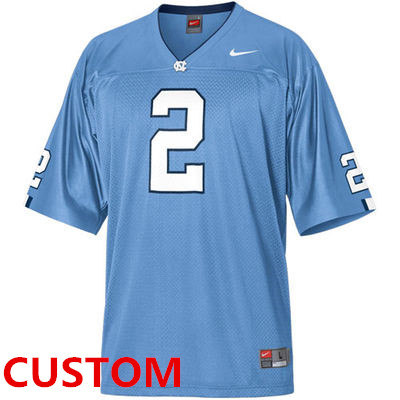 Custom Nike North Carolina Tar Heels (UNC)Replica Football Jersey - Carolina Blue