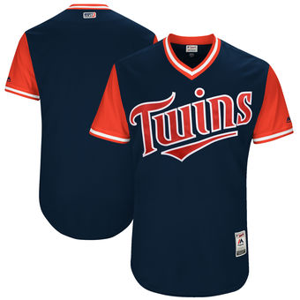 Custom Men's Minnesota Twins Majestic Navy 2017 Players Weekend Authentic Team Jersey