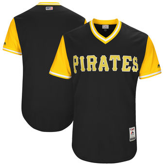 Custom Men's Pittsburgh Pirates Majestic Black 2017 Players Weekend Authentic Team Jersey