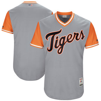 Custom Men's Detroit Tigers Majestic Gray 2017 Players Weekend Authentic Team Jersey