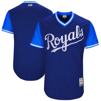 Custom Men's Kansas City Royals Majestic Navy 2017 Players Weekend Authentic Team Jersey