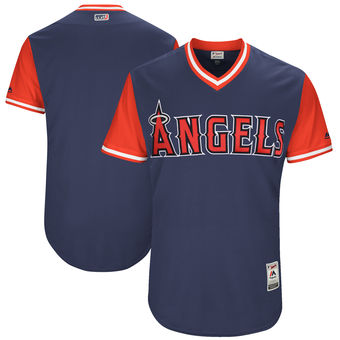 Custom Men's Los Angeles Angels Majestic Navy 2017 Players Weekend Authentic Team Jersey
