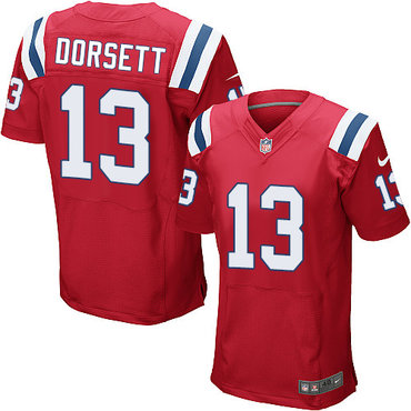 Nike New England Patriots #13 Phillip Dorsett Red Alternate Men's Stitched NFL Elite Jersey