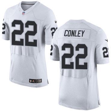 Nike Oakland Raiders #22 Gareon Conley White Men's Stitched NFL New Elite Jersey