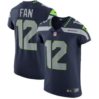 Nike Seattle Seahawks #12 Fan Vapor Untouchable Elite Player College Navy Jersey